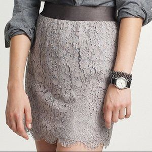 NWT J. Crew Chantilly Lace Mini Skirt Sz 8